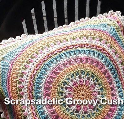 Scrapsadelic Groovy Cushion Part Four - Free Crochet Along | Creative Crochet Workshop #ccwscrapsadelicgroovycushion #crochetalong #scrapsofyarn