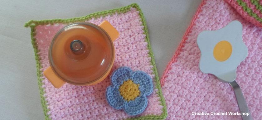 Cute Flower Costume Apron Set | Creative Crochet Workshop #freecrochetpattern #crochet @creativecrochetworkshop
