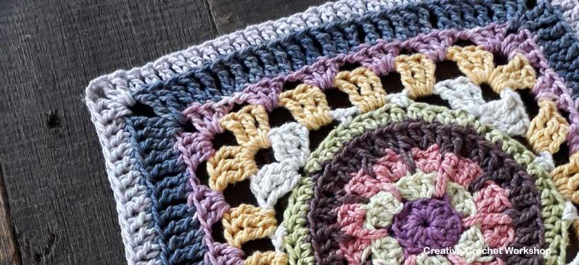 Scrappy Afghan Square 2018 Number Six - Free Crochet Pattern | Creative Crochet Workshop @creativecrochetworkshop #freecrochetpattern #grannysquare #afghansquare #crochetalong #ccwcrochetablock2018