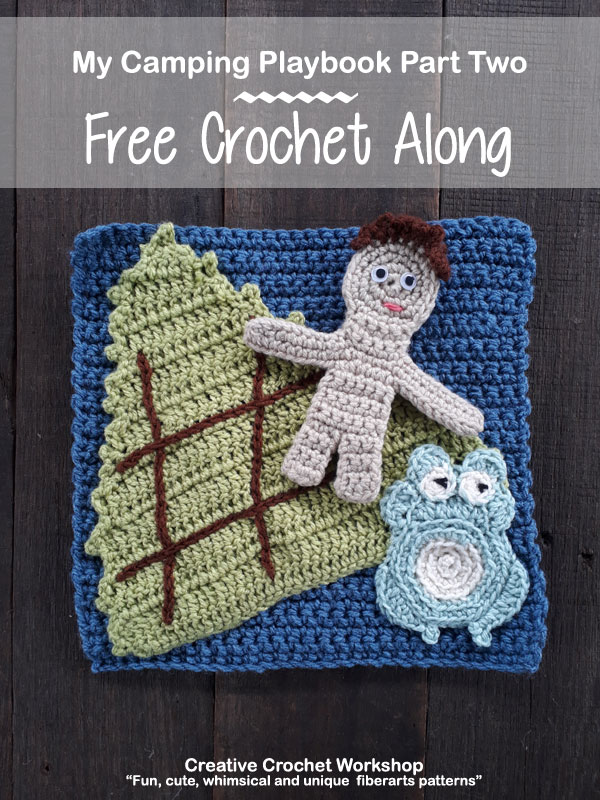 My Camping Playbook Part Two | Free Crochet Pattern | Creative Crochet Workshop @creativecrochetworkshop #ccwcampingplaybookcal #freecrochetalong #crochetquietbook