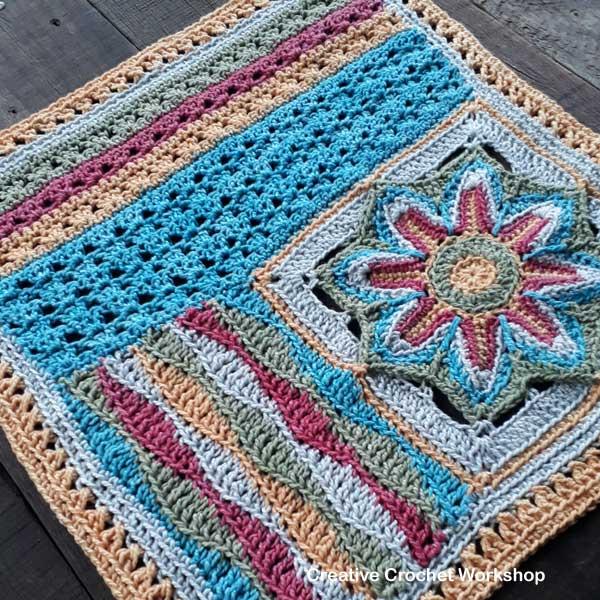 Scrapsadelic Groovy Blanket Part Two - Free Crochet Along | Creative Crochet Workshop #ccwscrapsadelicgroovyblanket #crochetalong #scrapsofyarn