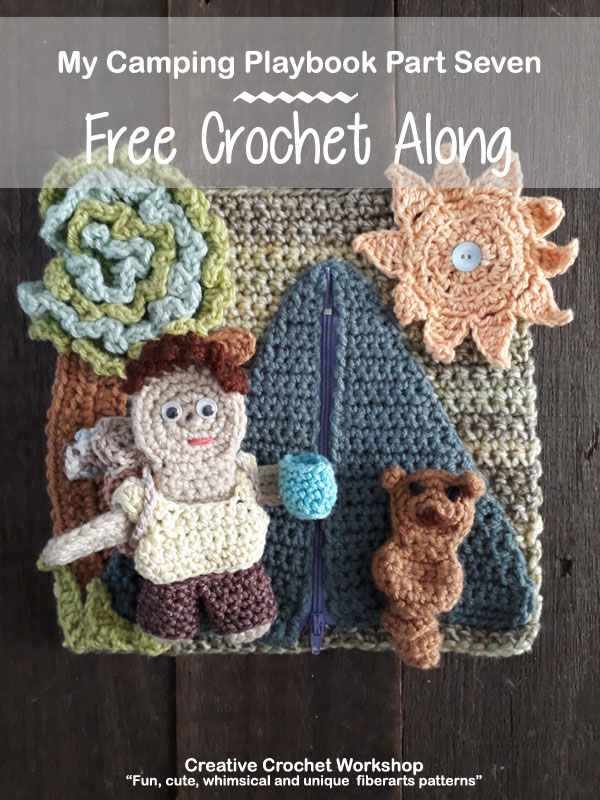 My Camping Playbook Part Seven | Free Crochet Pattern | Creative Crochet Workshop @creativecrochetworkshop #ccwcampingplaybookcal #freecrochetalong #crochetquietbook