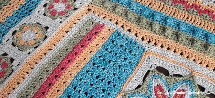 Scrapsadelic Groovy Blanket Part Five - Free Crochet Along | Creative Crochet Workshop #ccwscrapsadelicgroovyblanket #crochetalong #scrapsofyarn