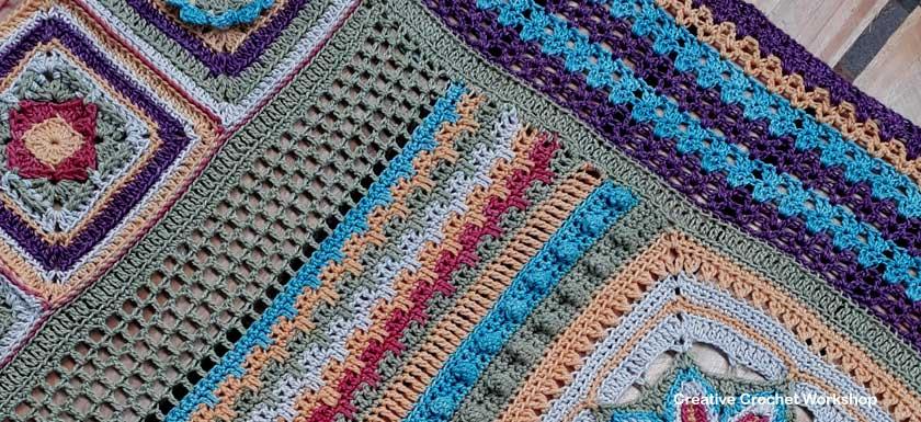 Scrapsadelic Groovy Blanket Part Seven - Free Crochet Along | Creative Crochet Workshop #ccwscrapsadelicgroovyblanket #crochetalong #scrapsofyarn