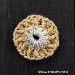 Fire Flower Square - Free Crochet Pattern | Creative Crochet Workshop #freecrochetpattern #crochet #crochetsquare