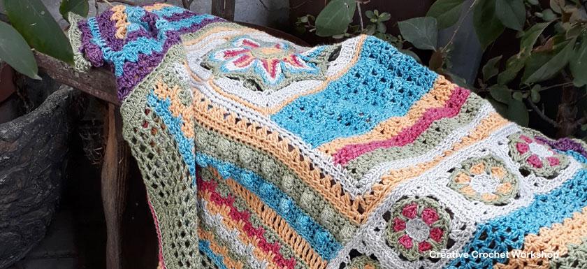 Scrapsadelic Groovy Blanket - A Free Crochet Along | Creative Crochet Workshop #ccwscrapsadelicgroovyblanket #crochetalong #scrapsofyarn