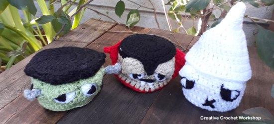 Halloween Monster Mini Baskets | Halloween Crochet Along 2018 | Creative Crochet Workshop @creativecrochetworkshop #freecrochetpattern #halloweencal2018