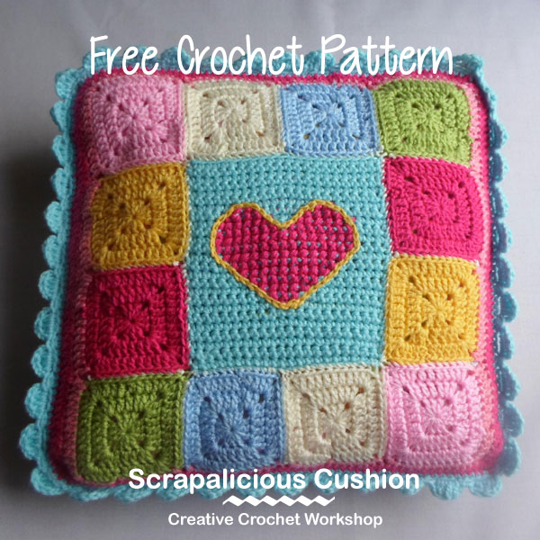 Scrapalicious Cushion - A Free Crochet Along | Creative Crochet Workshop #ccwscrapaliciouscushion #crochetalong #scrapsofyarn