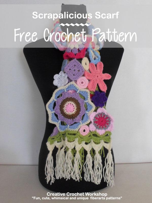 Scrapalicious Scarf - A Free Crochet Along | Creative Crochet Workshop #ccwscrapaliciousscarf #crochetalong #scrapsofyarn