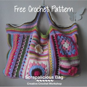 Scraps Of Yarn Series - Scrapalicious Bag - A Free Crochet Along | Creative Crochet Workshop #ccwscrapaliciousbag #crochetalong #scrapsofyarn