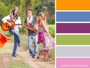 Hippie Purse - colorway suggestions   Creative Crochet Workshop #freecrochetpattern #crochet