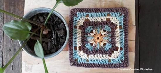 Trellis Square - Free Crochet Pattern | Creative Crochet Workshop #freecrochetpattern #crochet #crochetsquare