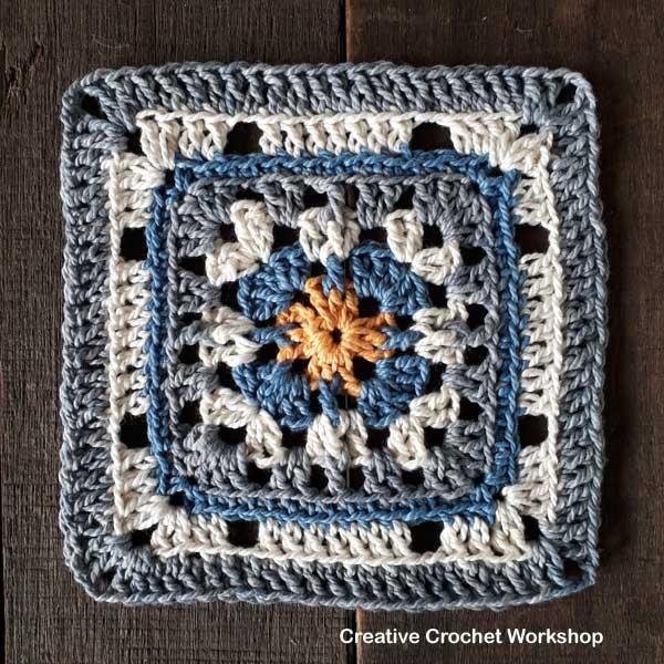 Merry Trellis Square - Free Crochet Pattern | Creative Crochet Workshop #freecrochetpattern #crochet #crochetsquare