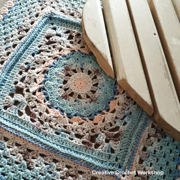 Vintagelicious Square Part Three - Free Crochet Along   Creative Crochet Workshop #ccwvintagelicioussquare #crochetalong #scrapsofyarn