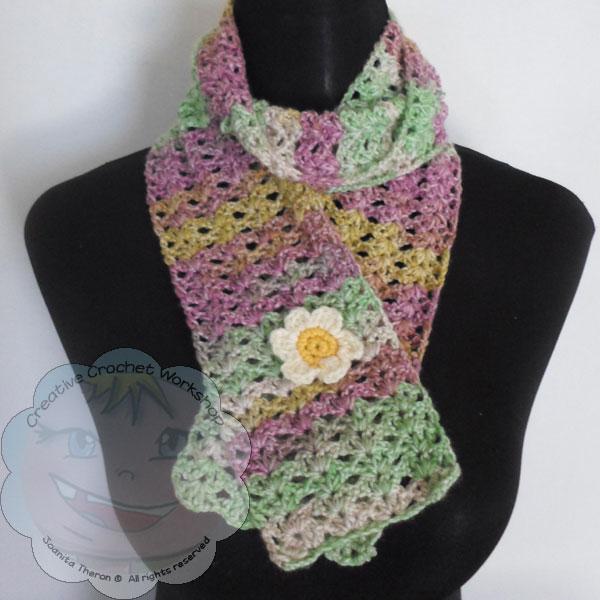 Starry Eye Spring Scarf - Free Crochet Pattern   Creative Crochet Workshop #freecrochetpattern #crochet @creativecrochetworkshop
