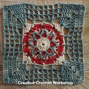 Framed Filet 8 Point Star Square - Free Crochet Pattern | Creative Crochet Workshop @creativecrochetworkshop #freecrochetpattern #grannysquare #afghansquare #crochetalong #ccwcrochetablock2019