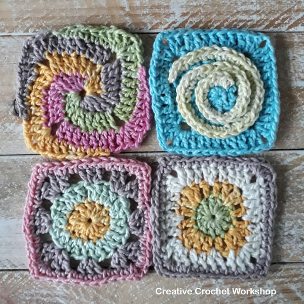 Scrapsrific Rainbow Blanket Part One - Free Crochet Pattern | Creative Crochet Workshop @creativecrochetworkshop #freecrochetpattern #grannysquare #afghansquare #crochetalong #ccwscrapsrificrainbowblanket