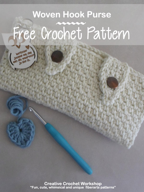 Woven Hook Purse - Free Crochet Pattern | Creative Crochet Workshop #freecrochetpattern #crochet @creativecrochetworkshop