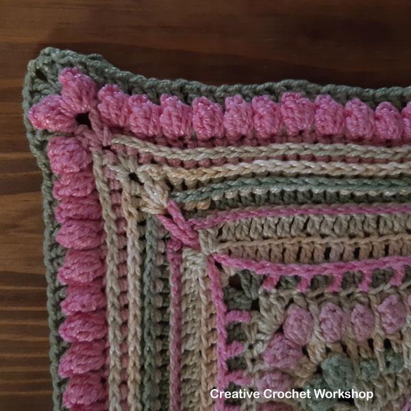 STARLIGHT FLOWER CUSHION PART 4 | Creative Crochet Workshop