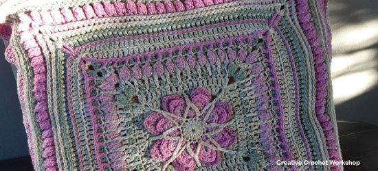Starlight Flower Cushion Part 5 - Free Crochet Along| Creative Crochet Workshop #freecrochetpattern #crochet @creativecrochetworkshop #freecrochetalong #ccwstarlightflowercal