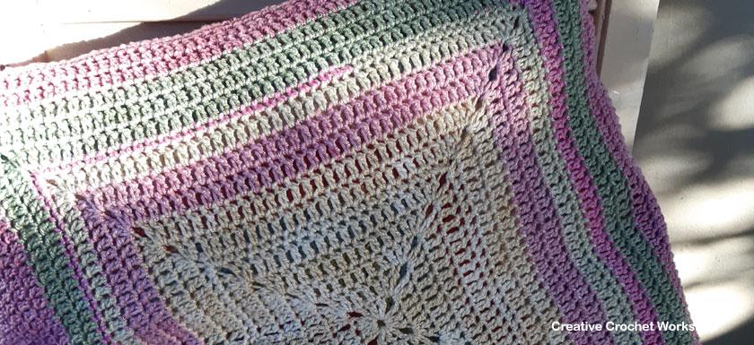 Starlight Flower Cushion Part 6 - Free Crochet Along  Creative Crochet Workshop #freecrochetpattern #crochet @creativecrochetworkshop #freecrochetalong #ccwstarlightflowercal