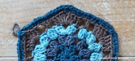 Hinto Hexagon - Free Crochet Pattern | Creative Crochet Workshop #freecrochetpattern #crochet #crochetalong #hexagon @creativecrochetworkshop
