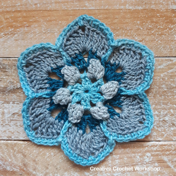 Marlais Hexagon - Free Crochet Pattern | Creative Crochet Workshop #freecrochetpattern #crochet #crochetalong #hexagon @creativecrochetworkshop
