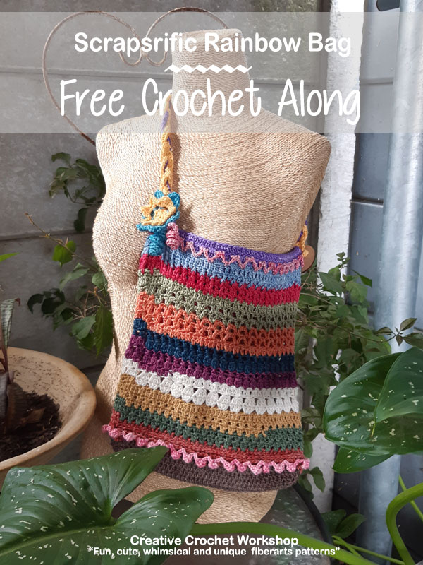 Scrapsrific Rainbow Bag - Free Crochet Pattern | Creative Crochet Workshop #freecrochetpattern #crochet #crochetalong #crochetbag #ccwscrapsrificrainbowbag @creativecrochetworkshop