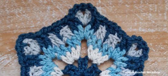 Nilmani Hexagon - Free Crochet Pattern | Creative Crochet Workshop #freecrochetpattern #crochet #crochetalong #hexagon @creativecrochetworkshop