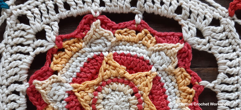 Orion Crochet Square - Free Crochet Pattern | Creative Crochet Workshop @creativecrochetworkshop #freecrochetpattern #grannysquare #afghansquare #crochetalong #ccwcassiopeiathrow