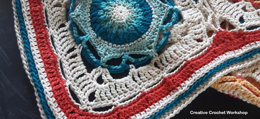 Cassiopeia Crochet Throw Border - Free Crochet Pattern | Creative Crochet Workshop @creativecrochetworkshop #freecrochetpattern #grannysquare #afghansquare #crochetalong #ccwcassiopeiathrow