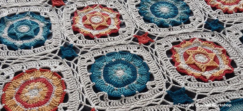 Cassiopeia Crochet Throw Joining - Free Crochet Pattern | Creative Crochet Workshop @creativecrochetworkshop #freecrochetpattern #grannysquare #afghansquare #crochetalong #ccwcassiopeiathrow