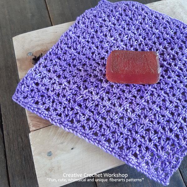 Crochet V Stitch Tutorial Washcloth - Free Crochet Pattern | Creative Crochet Workshop #freecrochetpattern #crochet #crochettutorial #crochetwashcloth @creativecrochetworkshop