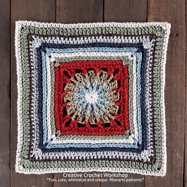 The Solomon Crochet Square - Free Crochet Pattern | Creative Crochet Workshop @creativecrochetworkshop #freecrochetpattern #crochetsquare #afghansquare
