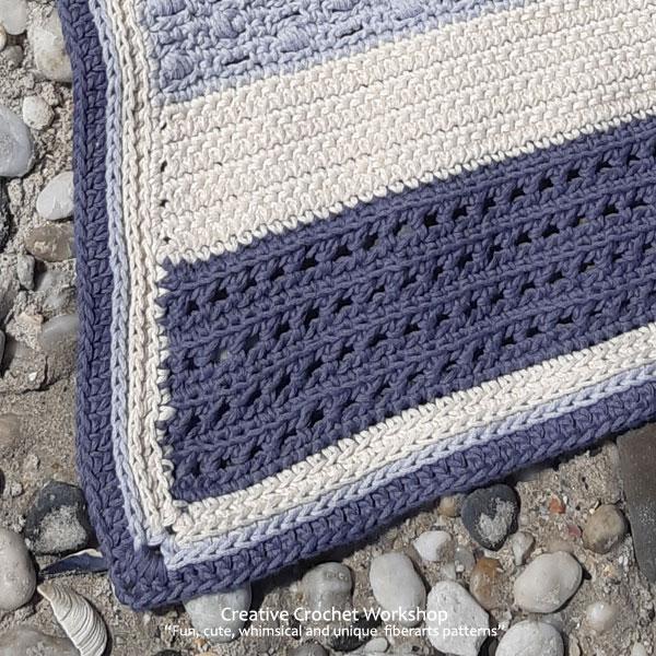 Beach Blues Cal Section Ten - Free Crochet Along | Creative Crochet Workshop @creativecrochetworkshop #freecrochetpattern #crochetbabyblanket #crochetalong #ccwbeachbluesbabyblanket