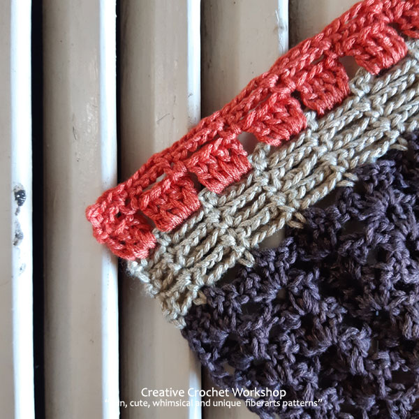 Autumn Velvet Shawl Section Ten - Free Crochet Along | Creative Crochet Workshop @creativecrochetworkshop #freecrochetpattern #crochetshawl #crochetwrap #crochetaccessory #crochetalong #ccwautumnvelvetshawl