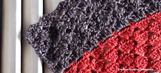 Autumn Velvet Shawl Section Six - Free Crochet Along   Creative Crochet Workshop @creativecrochetworkshop #freecrochetpattern #crochetshawl #crochetwrap #crochetaccessory #crochetalong #ccwautumnvelvetshawl