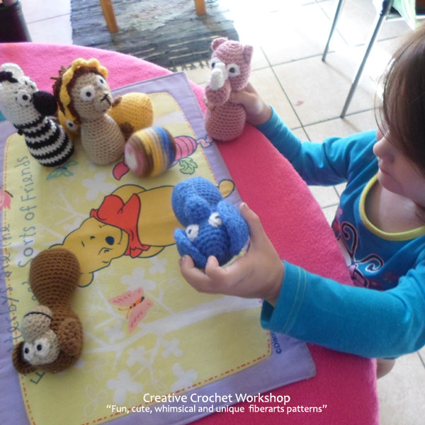 Safari Animal Crochet Play Set - Free Crochet Pattern | Creative Crochet Workshop #freecrochetpattern #crochet #crochetdoll #safarianimal #playset #crochettoy #crochetsoftie @creativecrochetworkshop