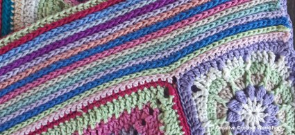 Scrapstasy Bohemian Crochet Blanket Section 7 - Free Crochet Pattern | Creative Crochet Workshop #crochetsquare #afghanblock #afghansquare #freecrochetalong #crochet #crochetblanket #stashbuster @creativecrochetworkshop