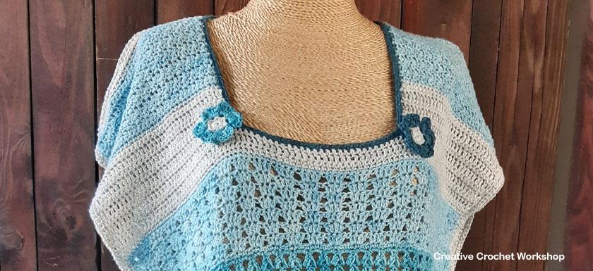 Variant Tunic Crochet Top Section 11 - Free Crochet Along | Creative Crochet Workshop #crochettop #crochettunic #crochetwearable #freecrochetalong #crochet #stashbuster @creativecrochetworkshop @mandmcrochetdesigns