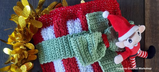 Crochet Stocking Gift Bag - Free Crochet Along | Creative Crochet Workshop #freecrochetpattern #crochet #crochetgifts #Christmascrochet @creativecrochetworkshop #2020crochetgiftalong
