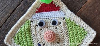 Merry Elf Crochet Square- Free Crochet Pattern | Creative Crochet Workshop #freecrochetpattern #crochet #crochetgifts #Christmascrochet @creativecrochetworkshop #2020crochetgiftalong