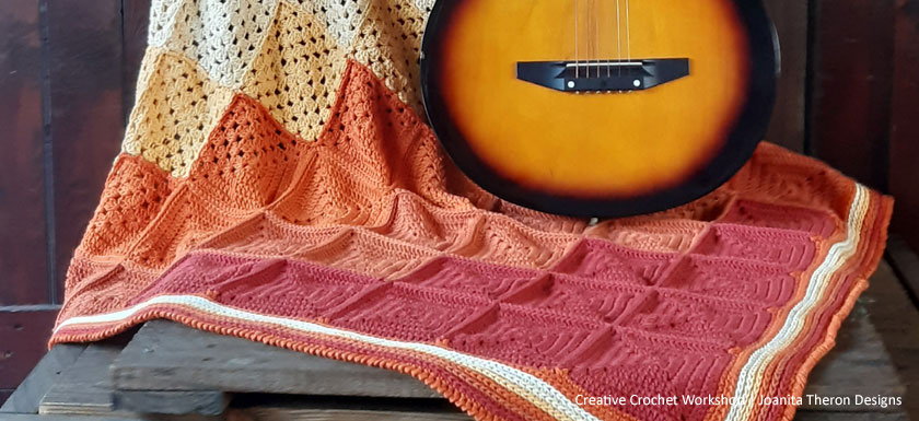 Orange Medley Crochet Throw Border - Free Crochet Pattern | Creative Crochet Workshop @creativecrochetworkshop #freecrochetpattern #crochetthrow #crochetblanket #crochetsquares #crochetpattern #ccworangemedleythrow #crochetgrannysquare
