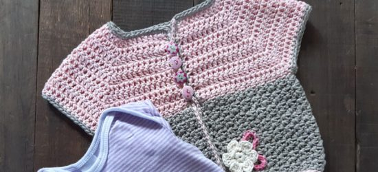 Sweet Pink Crochet Baby Jacket Part One - Free Crochet Along | Creative Crochet Workshop @creativecrochetworkshop #freecrochetalong #crochetblanket #crochetbabyjacket #crochetforbaby