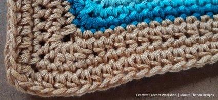 Border Crochet A Block 2021   Creative Crochet Workshop @creativecrochetworkshop #crochetsquare #freecrochetalong #crochetblanket #crochetthrow #ccwcrochetablock2021