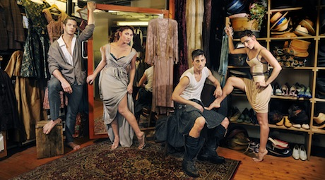 Scottish Dance Theatre publicity shot Julian Juarez, Giulia Montalbano Jori Kerremans and Nicole Guarino. Photographer Anna Isola Crolla
