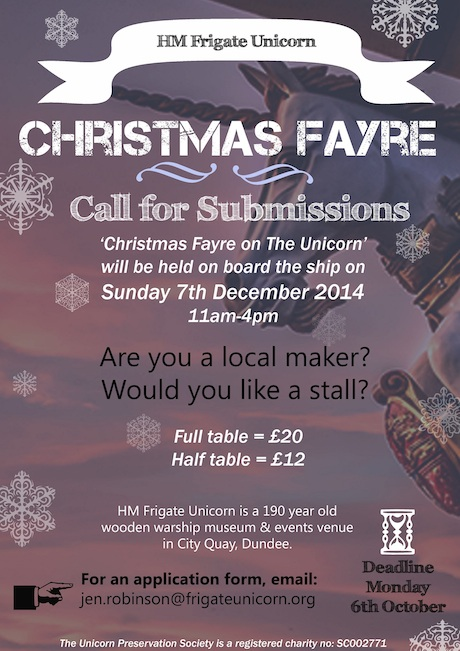Christmas Fayre on The Unicorn - Call for Submissions 2014