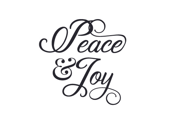 Download Peace & Joy SVG Cut file by Creative Fabrica Crafts ...