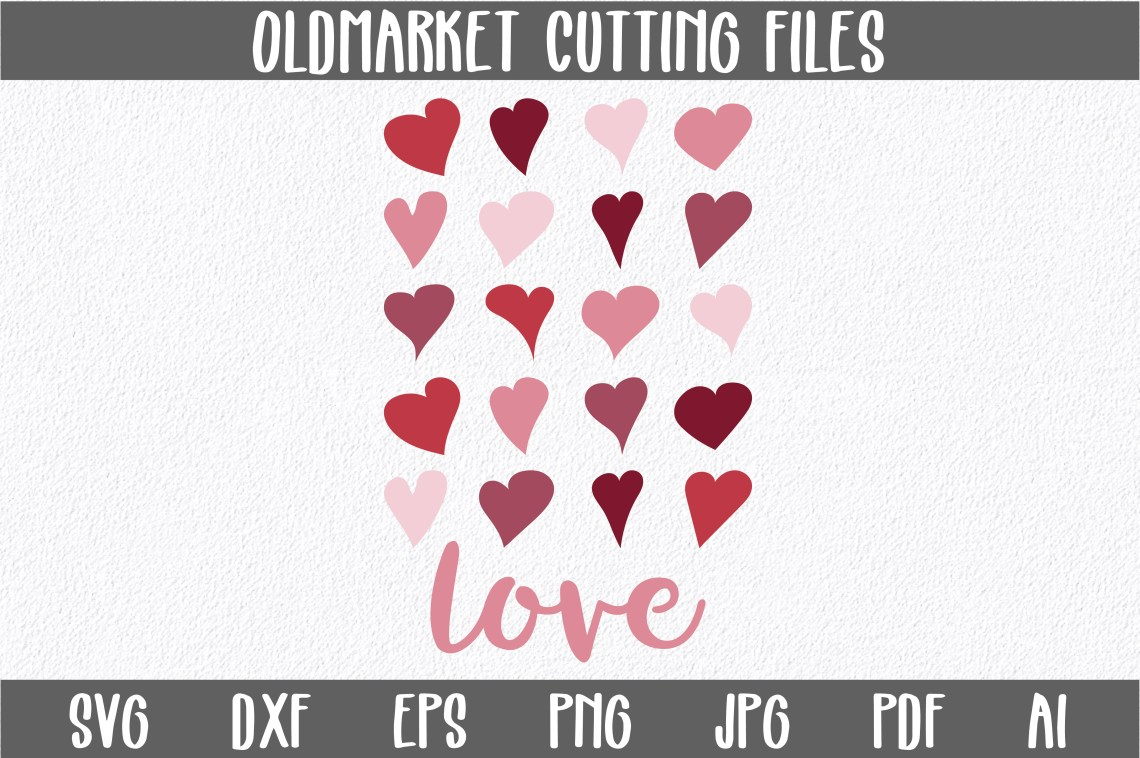 Download Love with Hearts SVG Cut File (Graphic) by ...