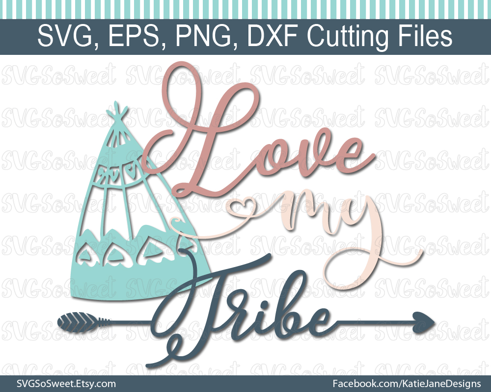 Download Love My Tribe SVG (Graphic) by Southern Belle Graphics ...